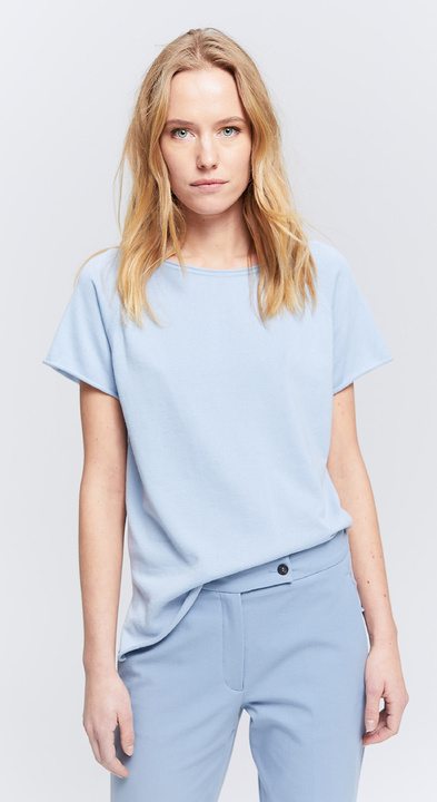 Fine Cotton Top mit Kappenärmeln