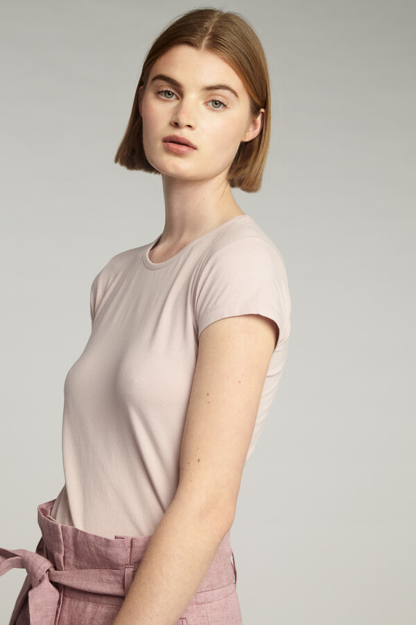 CAP SLEEVE TEE FADED ROSE