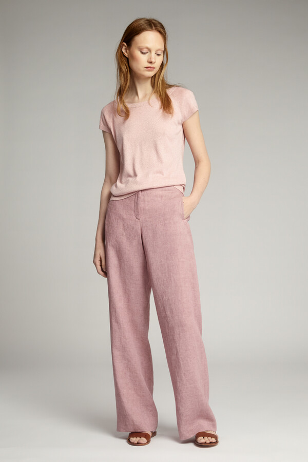VISCOSE BOAT-NECK PULL FADED ROSE