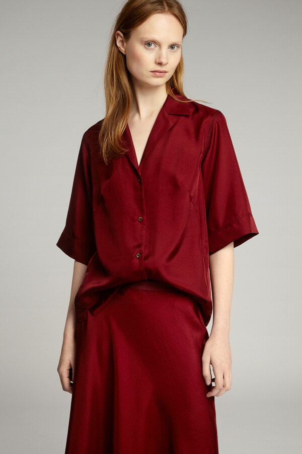 SHORT SLEEVE NOTCH SHIRT CARDINALE