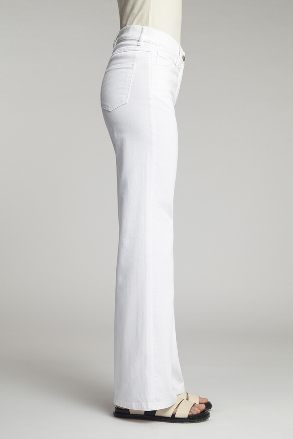 FLARED TWILL HOSE OFF WHITE