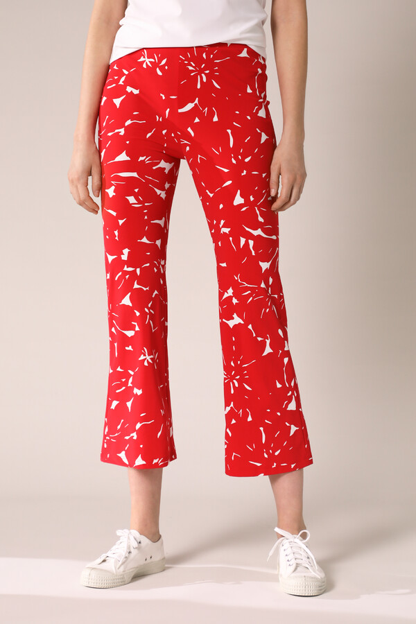 JAZZ PANTS FLOWER PRINT RADICAL RED