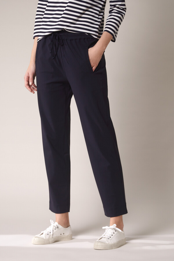 ELASTIC WAIST PANTS INK BLUE