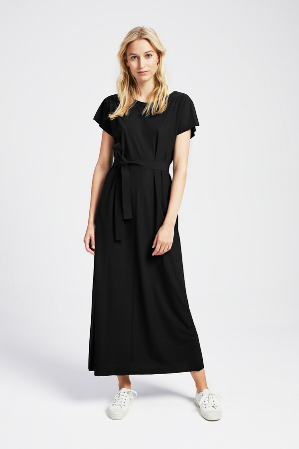 LONG RELAXED DRESS BLACK
