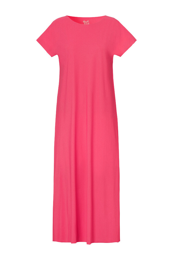LONG RELAXED DRESS RASPBERRY