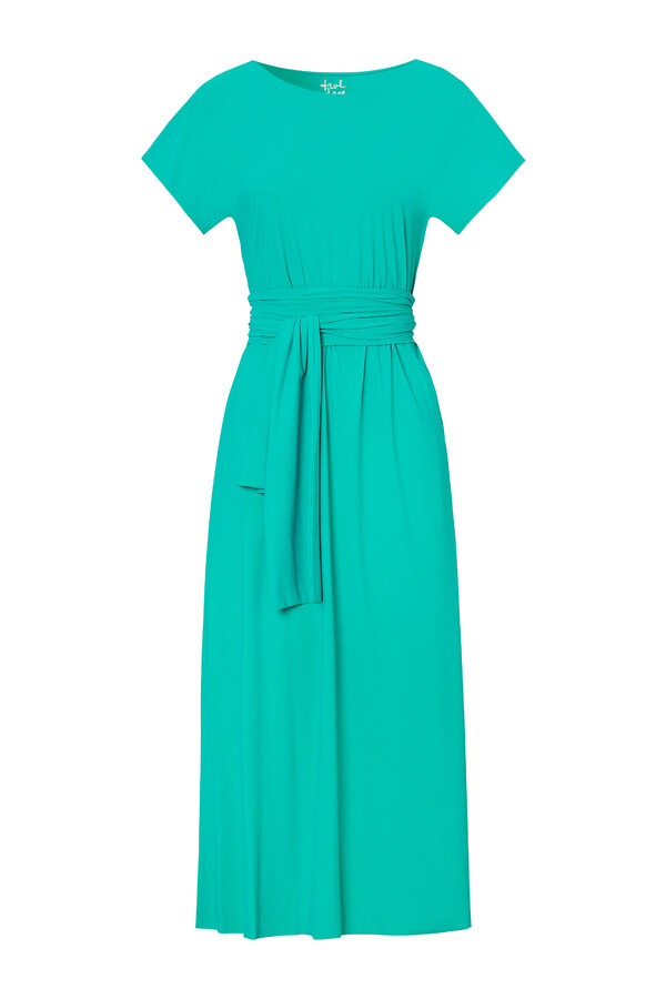 LONG RELAXED DRESS JADE