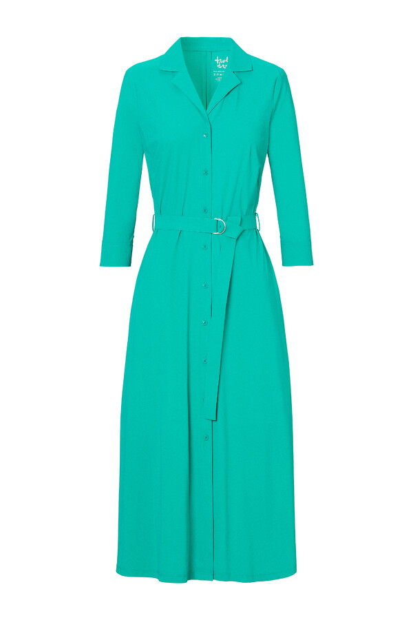 WAISTED SHIRT DRESS JADE