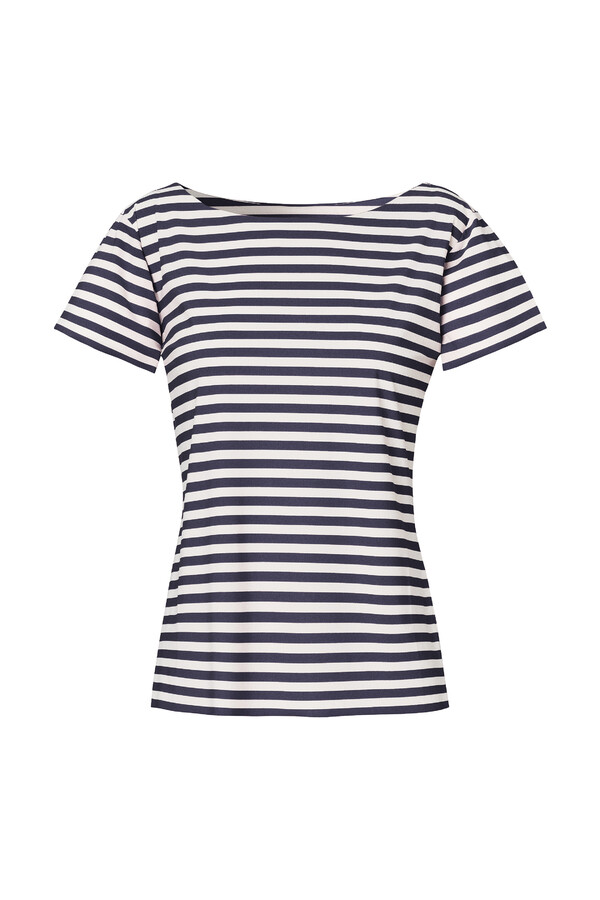 SHORT SLEEVE T-STRIPE INK BLUE