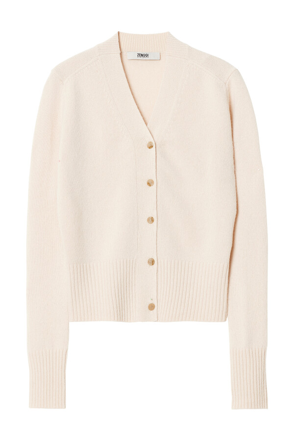 SOFT MERINO CARDIGAN CREAM