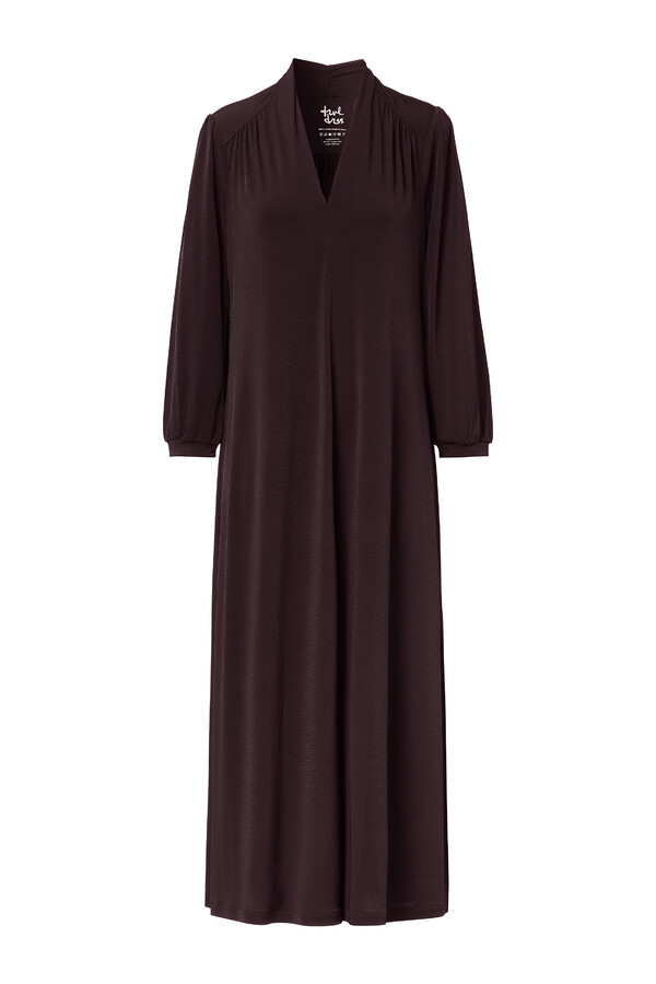 LONG VINTAGE DRESS INTENSE BROWN