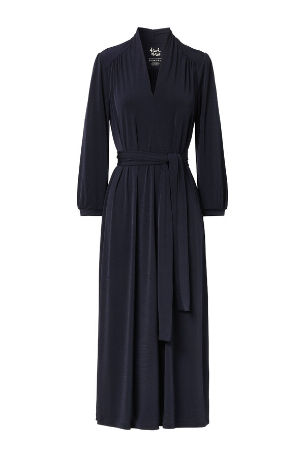 LONG VINTAGE DRESS MIDNIGHT BLUE