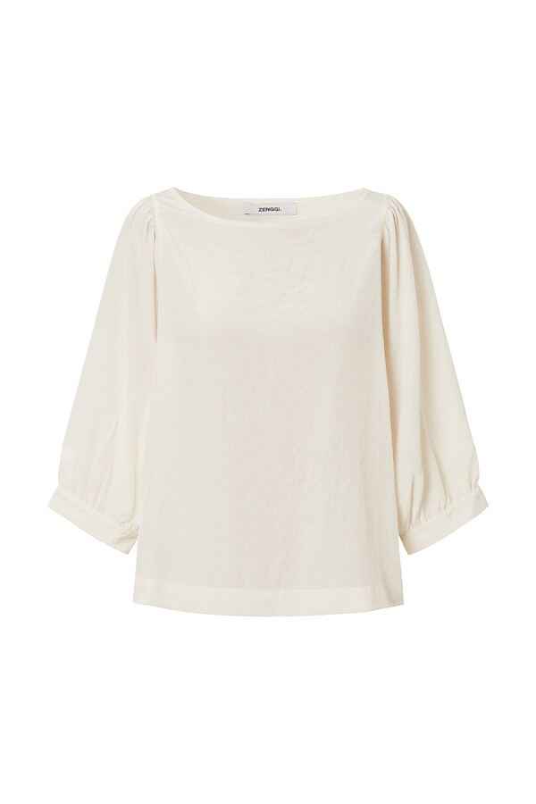 PUFF SLEEVE TOP OFF WHITE