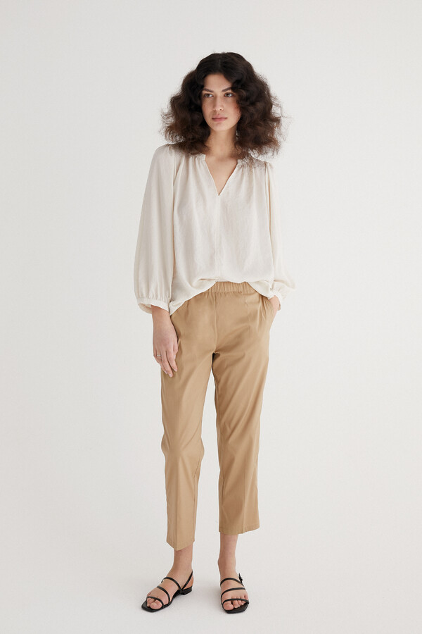 FLOWING BLOUSE OFF WHITE