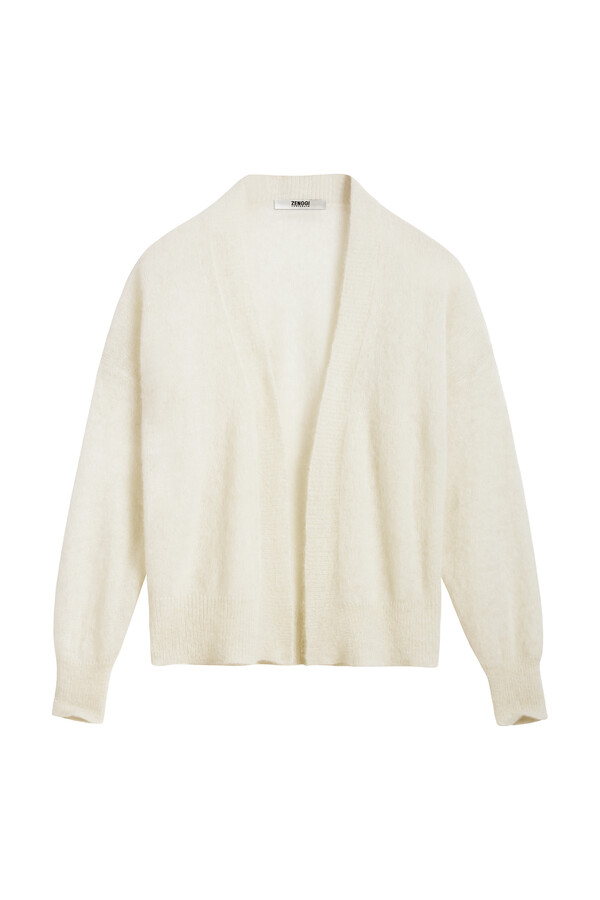 SUMMER ALPACA CARDI OFF WHITE