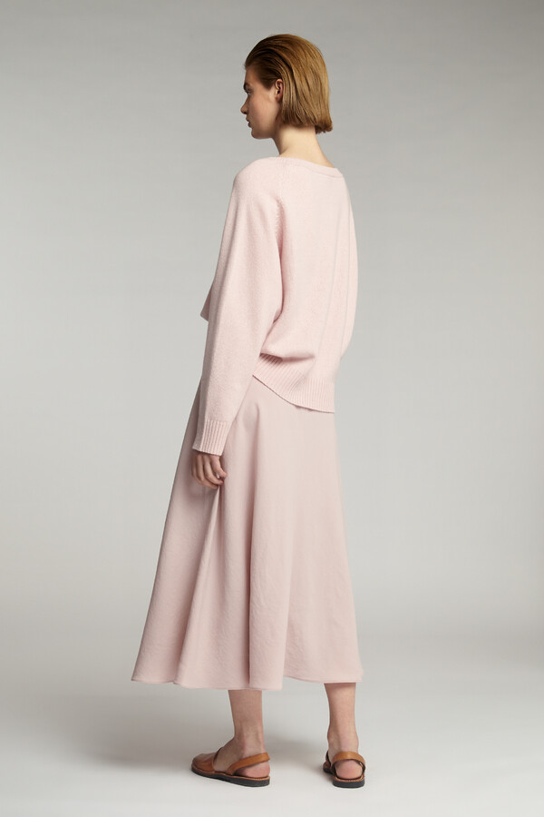 ECO CASHMERE CREW FADED ROSE